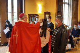 confirmation des élèves par Monseigneur james, Archevêque de Bordeaux