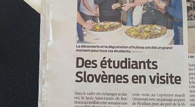 Des étudiants slovènes en visite à Saint-Genès La Salle Bord…