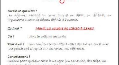 Le 16 octobre des lycéens de Notre-Dame Bordeaux déjeunent e…