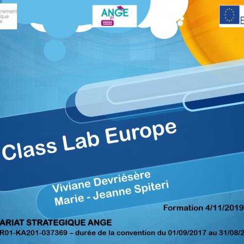 LANCEMENT DU CLASS EUROPE LE 4 DÉCEMBRE 2019