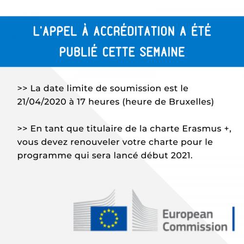 Publication de l'appel à accréditation de la Charte Erasmus