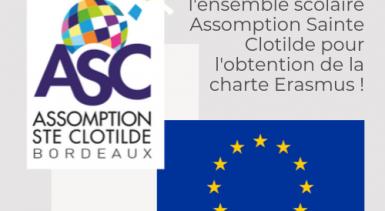 Une Charte ERASMUS pour l'Assomption Sainte Clotilde!