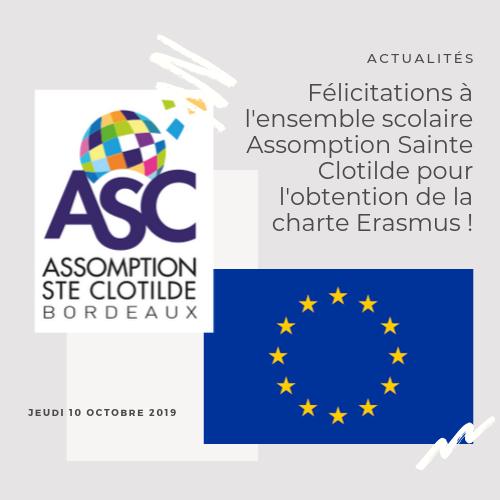 UNE CHARTE ERASMUS POUR L'ENSEMBLE SCOLAIRE ASSOMPTION SAINTE CLOTILDE