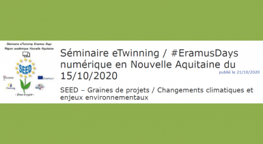 Séminaire numérique eTwinning à l'occasion des Erasmus Days